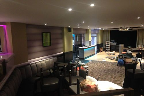 Image of work undertaken by MP Decorators in a hotel bar