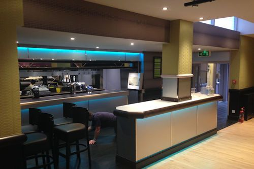 Image of work undertaken by MP Decorators at another hotel bar