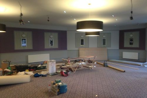 Image of work undertaken by MP Decorators in a hotel lounge